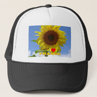 I Love France Sunflowers Trucker Hat