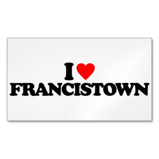 I LOVE FRANCISTOWN MAGNETIC BUSINESS CARDS
