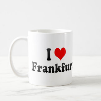 I Love Frankfurt, Germany Coffee Mug