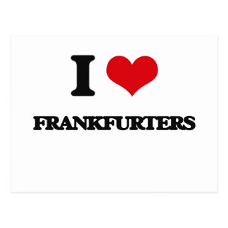 i LOVE fRANKFURTERS Postcard