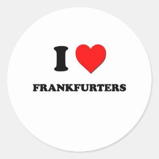 I Love Frankfurters Round Sticker