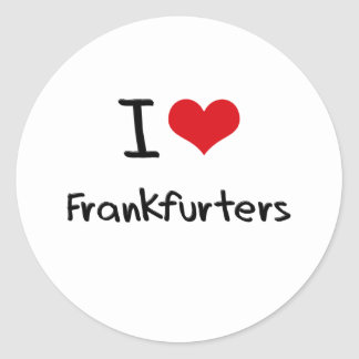 I Love Frankfurters Sticker