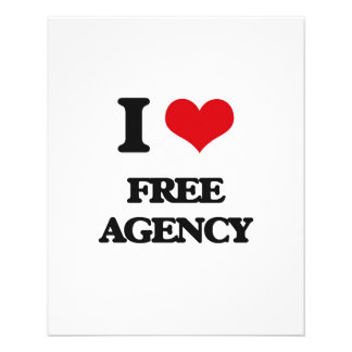 i LOVE fREE aGENCY 11.5 Cm X 14 Cm Flyer