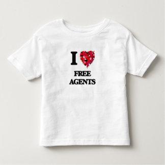 I Love Free Agents Tee Shirt