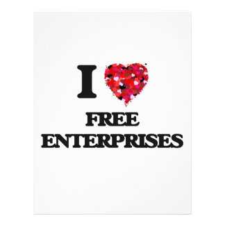 I Love Free Enterprises 21.5 Cm X 28 Cm Flyer