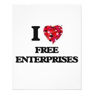 I Love Free Enterprises 11.5 Cm X 14 Cm Flyer