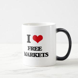 i LOVE fREE mARKETS Mugs