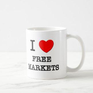 I Love Free Markets Coffee Mug