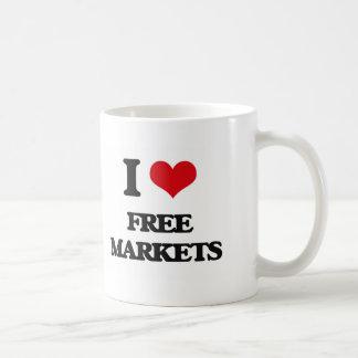 i LOVE fREE mARKETS Coffee Mugs