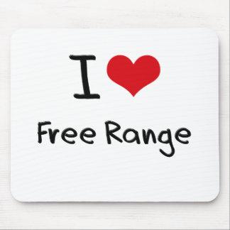 I Love Free Range Mouse Pad