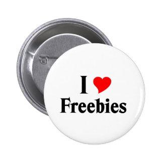 I love freebies 6 cm round badge