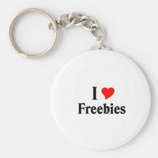 I love freebies basic round button key ring