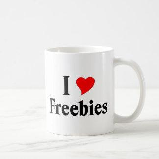 I love freebies basic white mug