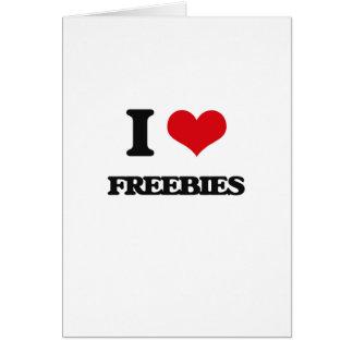 i LOVE fREEBIES Greeting Card