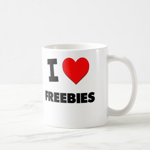 I Love Freebies Coffee Mugs