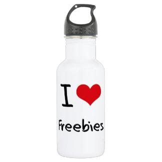 I Love Freebies 18oz Water Bottle