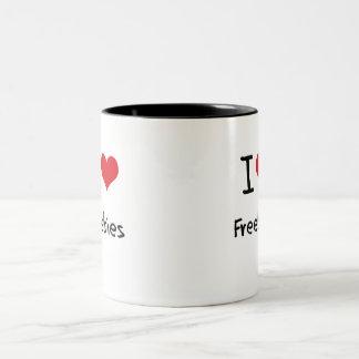 I Love Freebies Two-Tone Mug