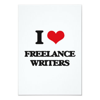 I love Freelance Writers Personalized Announcement