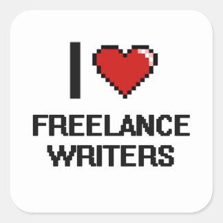 I love Freelance Writers Square Sticker