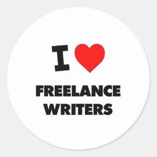 I Love Freelance Writers Stickers