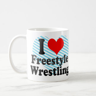 I love Freestyle Wrestling Coffee Mug