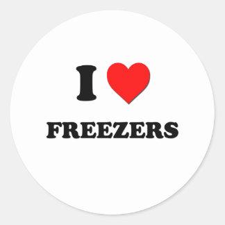I Love Freezers Round Sticker