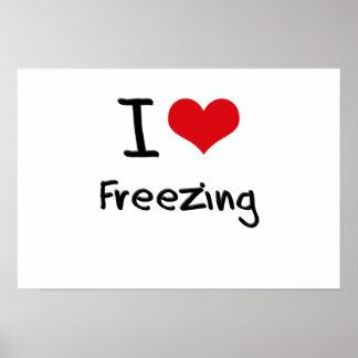 I Love Freezing Print