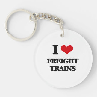 I love Freight Trains Acrylic Key Chain