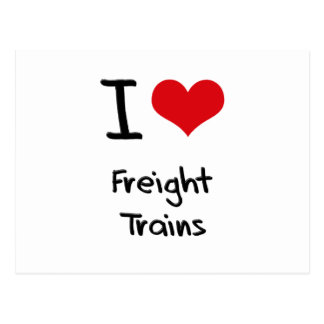 I Love Freight Trains Postcard