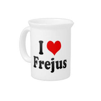 I Love Frejus France Drink Pitchers