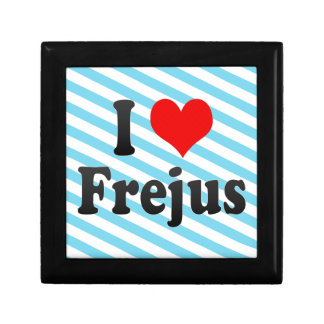I Love Frejus, France Trinket Boxes