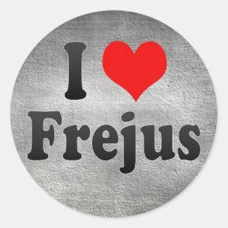 I Love Frejus, France Round Sticker