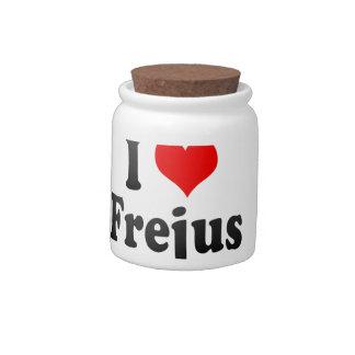 I Love Frejus, France Candy Jars