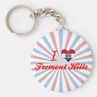 I Love Fremont Hills, Missouri Keychain
