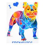 I Love French Bulldogs 21.5 Cm X 28 Cm Flyer