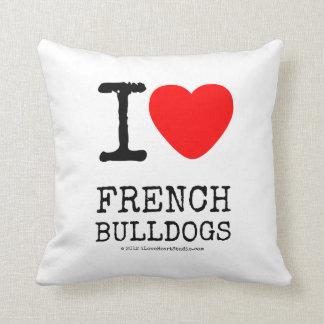I Love French Bulldogs Cushion
