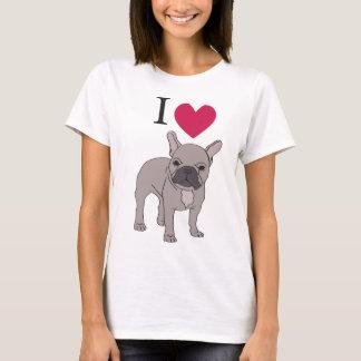 I Love French Bulldogs Heart Cute Dog Top T-Shirt