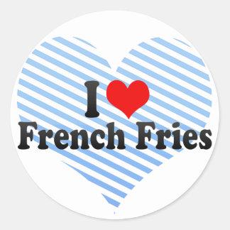 I Love French Fries Classic Round Sticker