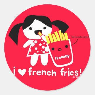 I LOVE FRENCH FRIES STICKER