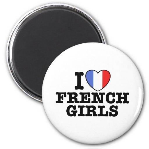 I Love French Girls Fridge Magnet