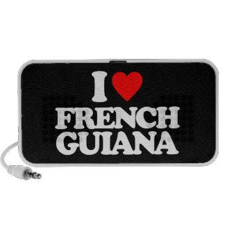 I LOVE FRENCH GUIANA PORTABLE SPEAKERS