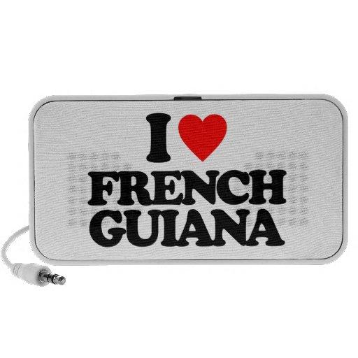 I LOVE FRENCH GUIANA LAPTOP SPEAKERS