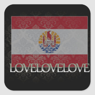 I love French Polynesia Cool Stickers