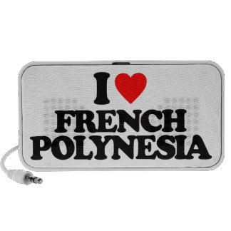 I LOVE FRENCH POLYNESIA iPod SPEAKER