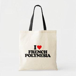 I LOVE FRENCH POLYNESIA TOTE BAGS