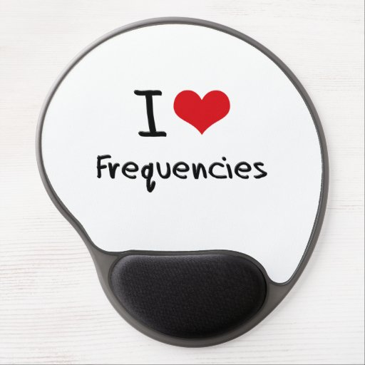 I Love Frequencies Gel Mouse Mats