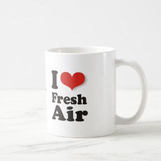 I Love Fresh Air Basic White Mug