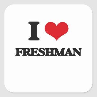 I love Freshman Square Sticker