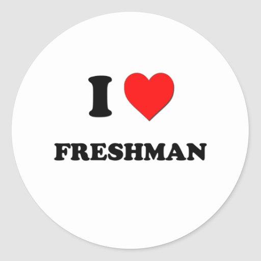 I Love Freshman Stickers