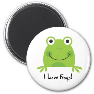 I Love Frogs! 6 Cm Round Magnet